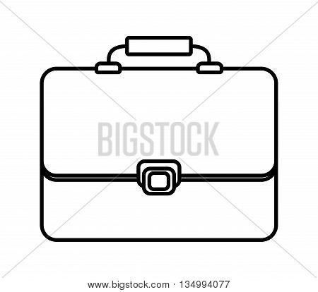 Bag concept represented by suitcase icon over flat and isolated background
