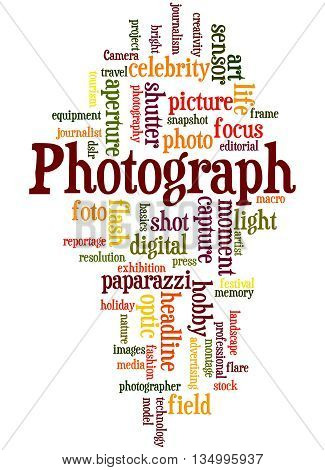 Photograph, Word Cloud Concept 4