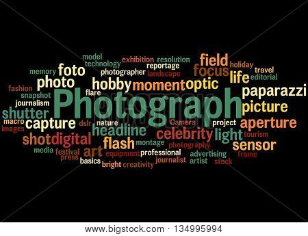 Photograph, Word Cloud Concept 6