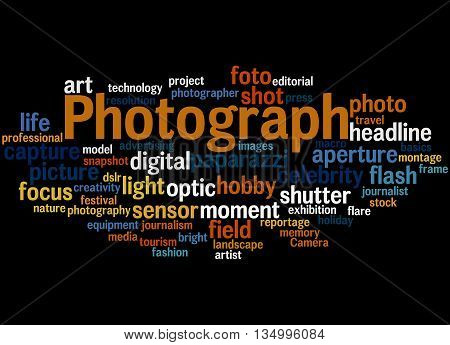 Photograph, Word Cloud Concept 7