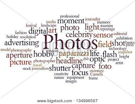 Photos, Word Cloud Concept 9