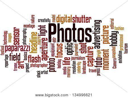 Photos, Word Cloud Concept