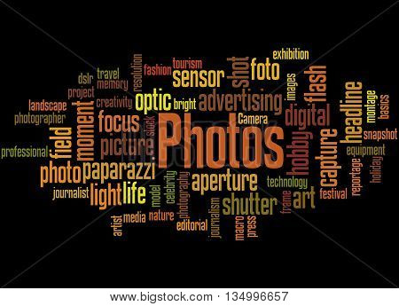 Photos, Word Cloud Concept 3