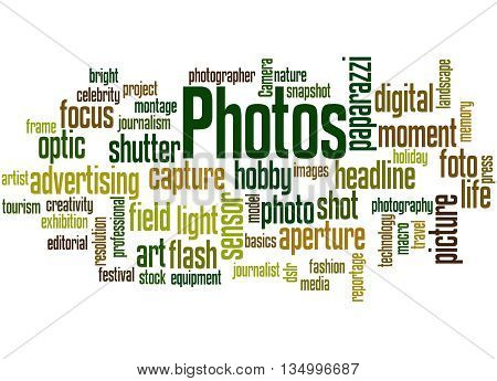 Photos, Word Cloud Concept 4