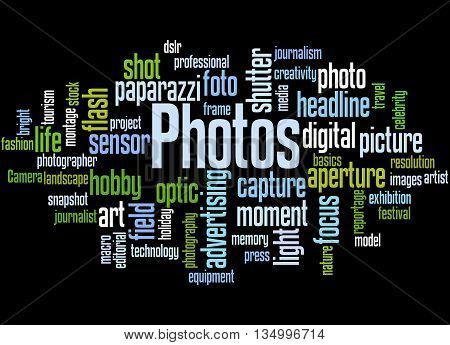 Photos, Word Cloud Concept 5