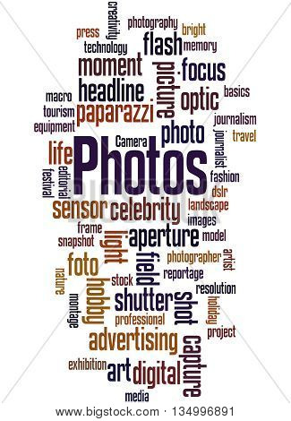 Photos, Word Cloud Concept 8