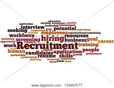 Recruitment, Word Cloud Concept 6