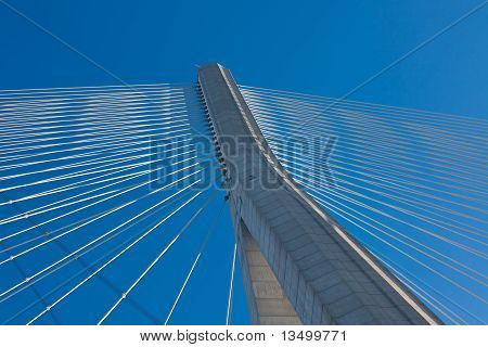 Normandy Bridge Up View (pont De Normandie, France)