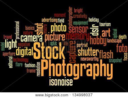 Stock Photography, Word Cloud Concept 8