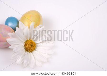 Easter eggs with Lovely Flower