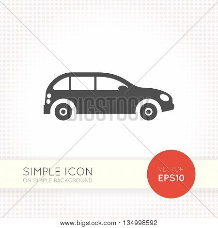 poster of Car minimal flat icon. Car icon. Car icon eps. Car icon ai. Car icon drawing. Car icon button.