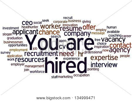 You Are Hired, Word Cloud Concept 5