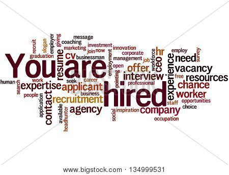 You Are Hired, Word Cloud Concept 7