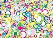 Lot of vivid circles - background / pattern / texture