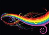 Abstrakte Regenbogen-Kurven