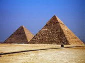 image of the great pyramids  - pyramids egypt sand pharaoh history stones travel - JPG