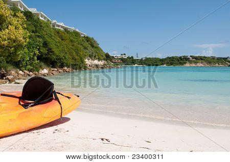 Kayak On Beach