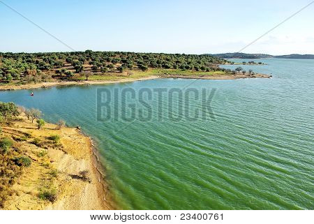 Alqueva Lake, Guadiana River, Portugal.