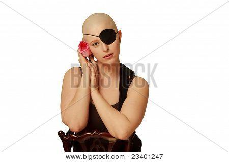 Bald Girl on White
