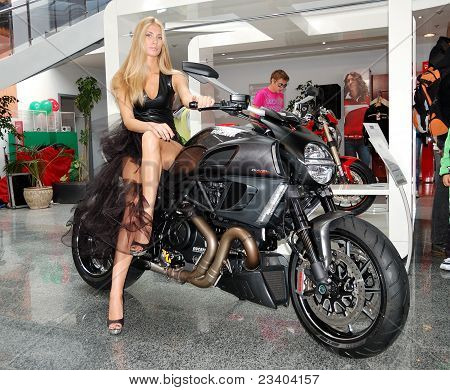 Kiev - September 11: Ducati Diavel At Yearly Automotive-show