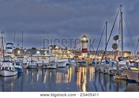 Oceanside Harbor At Night