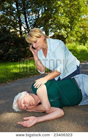 Passerby Calling Emergency Ambulance