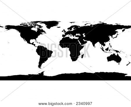 Stock photo : World Map Including Antarctica