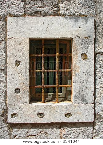 Window With Iron Bars