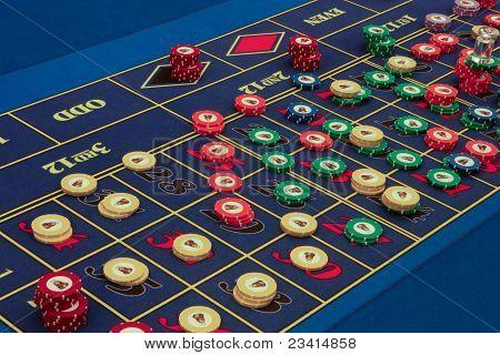 Casino American Roulette Table