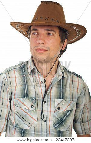 Portrait Of Serious Cowboy