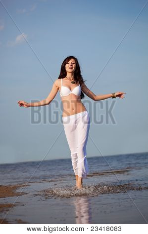 woman on  on the sea beach