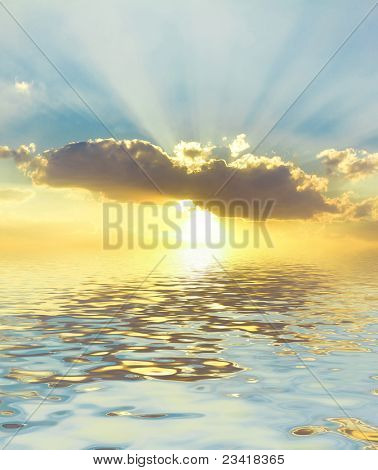 Beautiful Halo Vibrant Waters