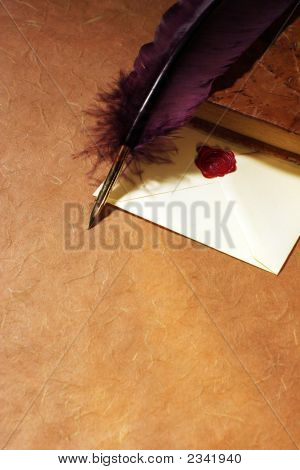 Letter,  Quill  & Book