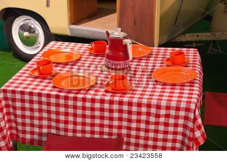 Classical Vintage Camping Picnic Table