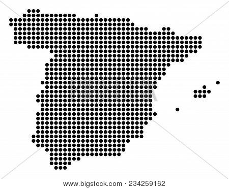 Dotted Spain Map Vector Mosaic