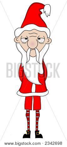 Unhappy Santa