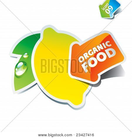 Icon Lemon With An Arrow By Organic Food