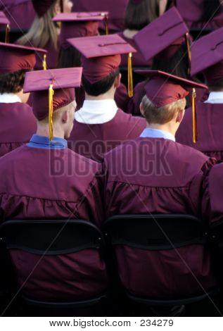 Graduation Crimson And Gold
