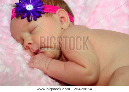Newborn's first photo