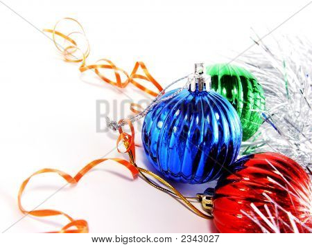 Decorative Balls With Tinsel