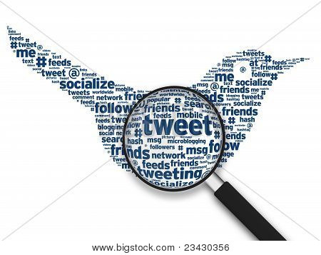 Magnifying Glass - Tweeting Bird