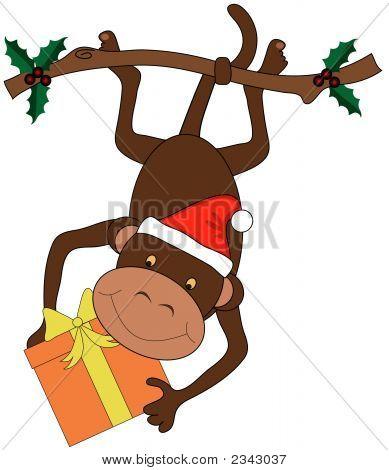 Christmas Monkey Vector