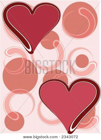 Kreis Hintergrund W Hearts.Eps