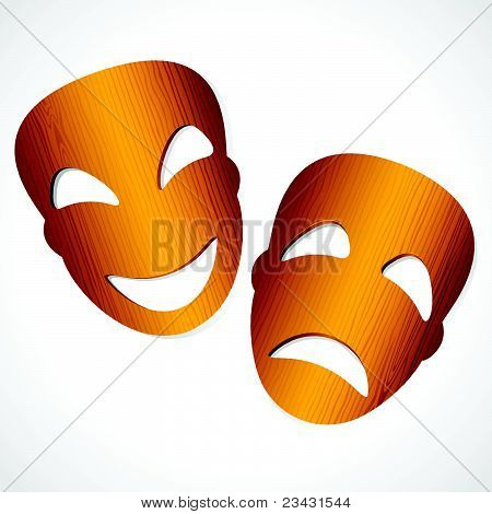 Comedy Tragedy Theater Masks