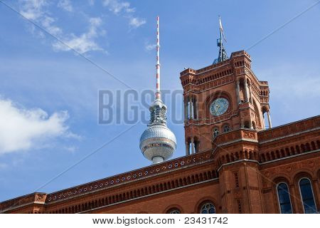 Townhall and television tower