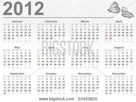 Voll 2012 Kalender mit Schmetterlingen