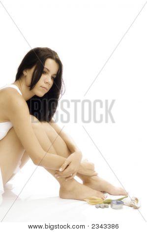 Spa Girl Isolated