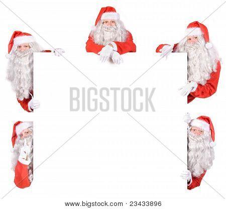 Group of Santa Claus