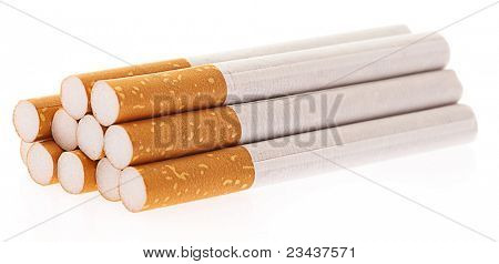 cigarettes group isolated on a white background