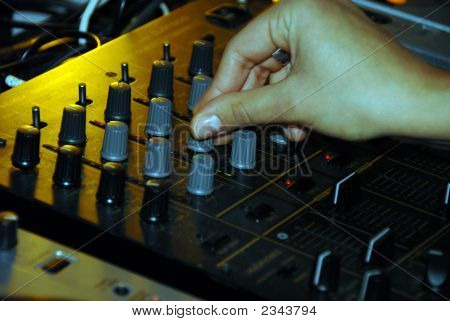 Dj And His Mixing Desk